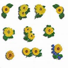 sunflower appliques machine embroidery designs by sew swell