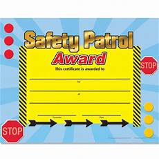 Safety Award Certificate Template Safety Patrol Gold Foil Stamped Certificates Positive