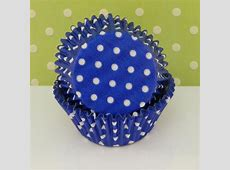 Royal Blue with White Dots Cupcake Liners ? Christy Marie's