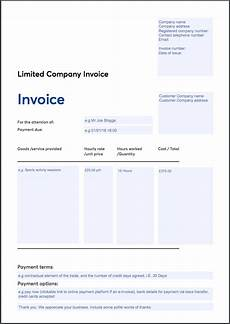 Templates For Invoices Free Invoice Template Sole Trader Ltd Company Vat