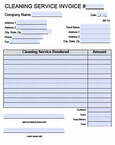 House Cleaning Invoice Template Free Free House Cleaning Service Invoice Template Excel Pdf