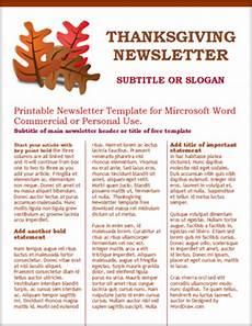Thanksgiving Newsletter Template Free Worddraw Com Free Thanksgiving Template For Microsoft Word