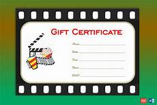 Movie Gift Certificate Template One Note Gift Certificate Template Gct