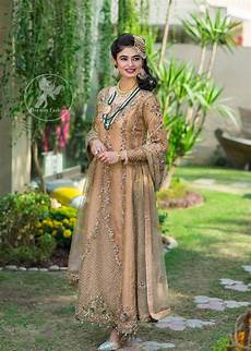 Clothes Design 2017 In Pakistan Latest Pakistani Designer Dress 2017 Peach Party Wear Maxi