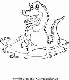 ausmalbilder krokodil 2 tiere zum ausmalen malvorlagen
