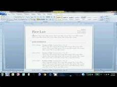 How To Make Resume In Microsoft Word 2010 How To Make An Easy Resume In Microsoft Word 2010
