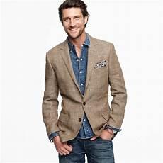 linen sports coats and blazers lyst j crew glen plaid silklinen sportcoat in ludlow fit