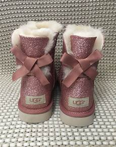 Sparkle In Pink Women S Size Chart Ugg Women S New Mini Bailey Bow Sparkle Sheepskin Boots In