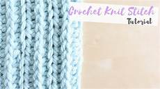 crochet how to crochet the knit stitch coco