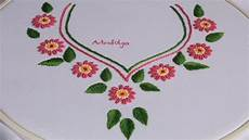 embroidery design for neck bullion stitch
