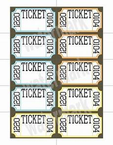 Template For Tickets With Numbers Unavailable Listing On Etsy