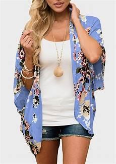 floral batwing sleeve cardigan salt floral batwing sleeve cardigan without necklace bellelily