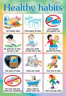 Good Eating Habits Chart Healthy Habits Free Classroom Poster From Ric Publications