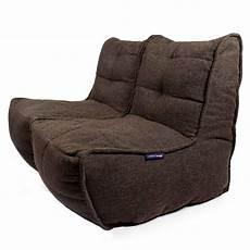 2 seater brown sofa designer bean bag brown