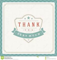 thank you card template free vector thank you typography message vintage greeting card stock