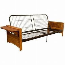 Futon Sofa Bed Frame 3d Image by Bayview Attached End Table Style Frame Futon Sofa Sleeper