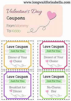 Coupons For Printable Love Coupons For The Kids From