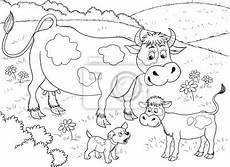 Malvorlage Lustige Kuh Kalb Malvorlage Bauernhof