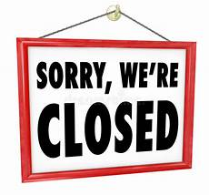 Closed For Business Sign Sorry We Re Closed Hanging Sign Store Closure Stock