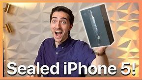Unboxing a BRAND NEW Sealed iPhone 5 in 2021!