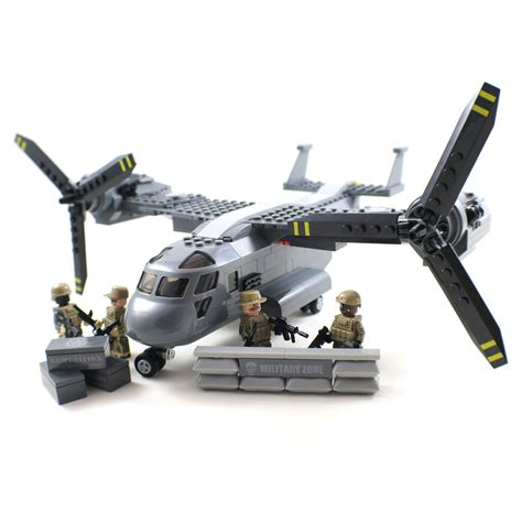 lego army jet osprey aircraft building block plane compatible