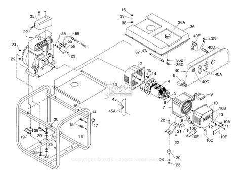 coleman generator wiring diagram powermate formerly coleman pm0544302 01 parts diagram for generator parts