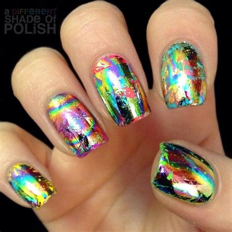 Nail Foil For Nail Ghl06 the 25 best foil nails ideas on foil nail