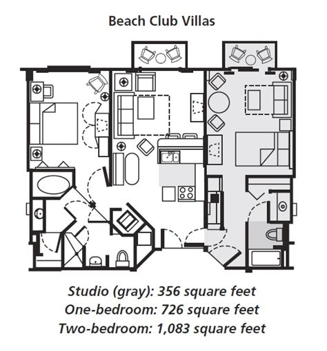 beach club villas floor plan disney s beach club villas