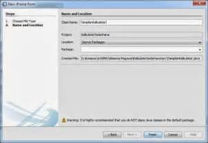 layout manager pada java program kalkulator sederhana menggunakan java netbeans
