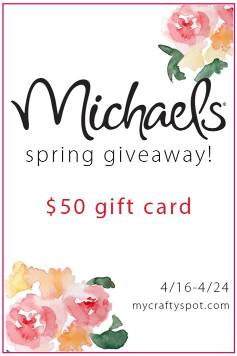 Michaels Giveaway - 50 michaels gift card giveaway mycreativedays