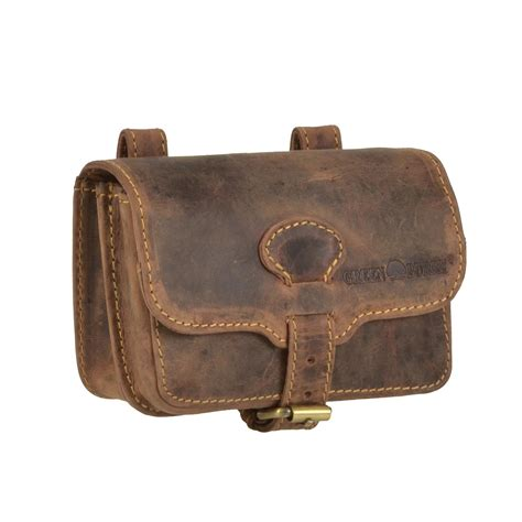 greenburry belt pouch leather antique brown waist bag