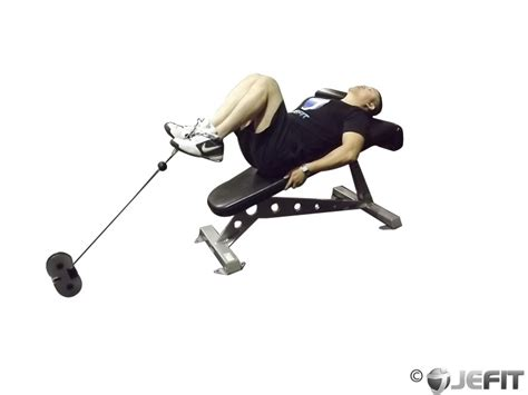 bench knee in decline bench cable knee raise exercise database jefit