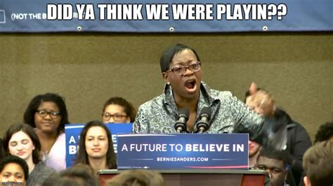 Ya Think Meme - nina turner imgflip