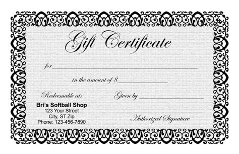 Gift Certificate Letter Template Gift Certificate Templates