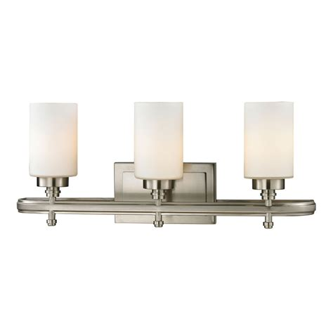 Elk Bathroom Lighting Elk 11662 3 Dawson Brushed Nickel 3 Light Bath Light Fixture Elk 11662 3