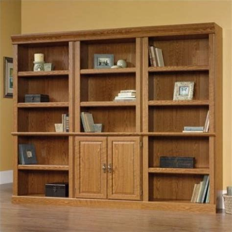 Sauder Oak Bookcase Sauder Orchard Wall Bookcase In Carolina Oak Finish Walmart