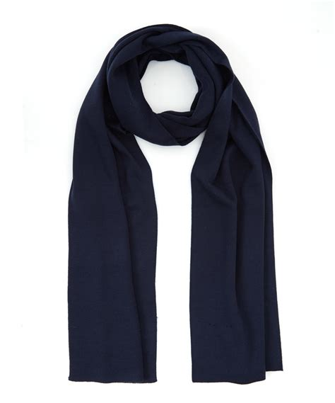 navy knit scarf smedley navy lark knit wool scarf in blue for