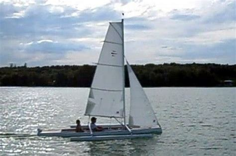 trimaran kit with folding akas trika 540 plywood trimaran boats designs pinterest