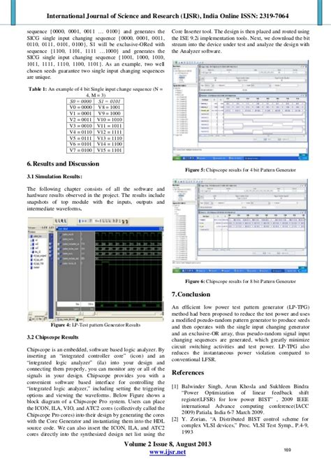 test pattern generation using lfsr implementation of low power test pattern generator using lfsr