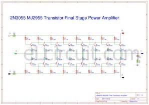 driver transistor for 2n3055 2n3055 mj2955 booster transistor circuit electronic circuit