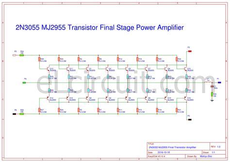 2n3055 transistor lifier circuit 28 images simple 100