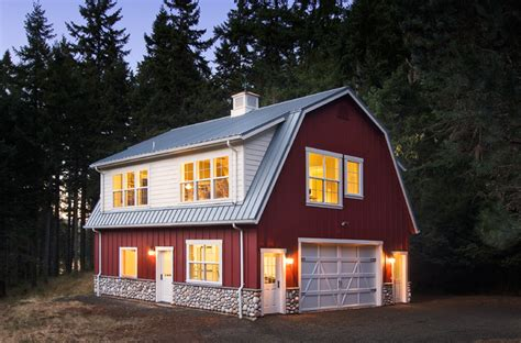 barn with loft barn studio and loft traditional exterior other metro by henderer design build