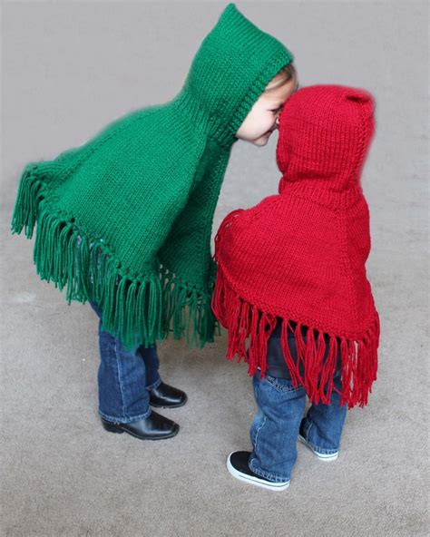 knitted hooded poncho pattern for knitted hooded childrens ponchos pdf