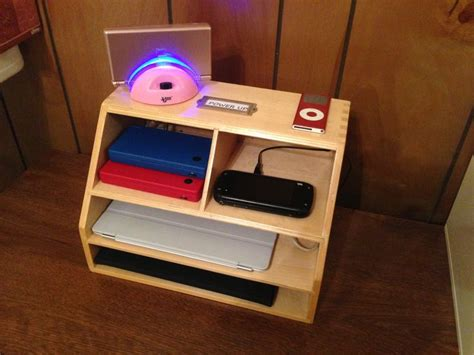 wood charging station organizer the 25 best wooden desk organizer ideas on pinterest