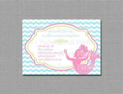 printable birthday invitations little mermaid printable invitation little mermaid mermaid birthday