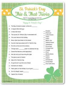 st trivia printable st s day this that trivia c