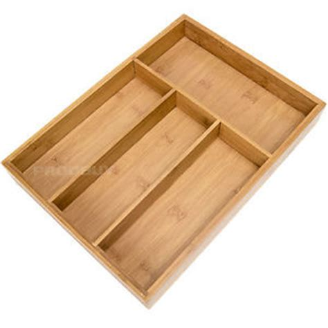 knife drawer organizer uk 4 compartment bamboo wooden cutlery storage tray drawer