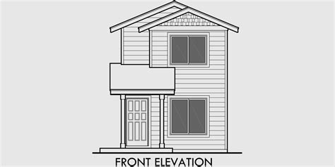 small two story house plan narrow lot house plans building small houses for small lots