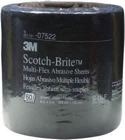 3m 7522 scotch brite multi flex abrasive sheet roll, ultra