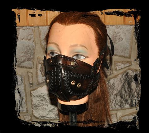 leather muzzle leather muzzle by lagueuse on deviantart